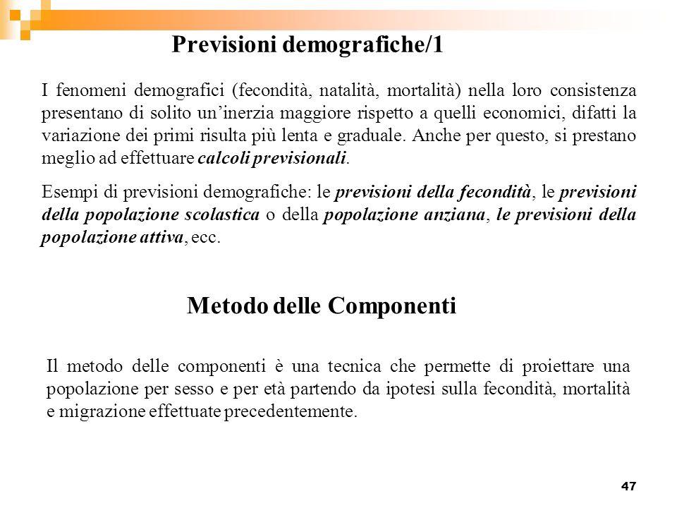 Previsioni demografiche/1