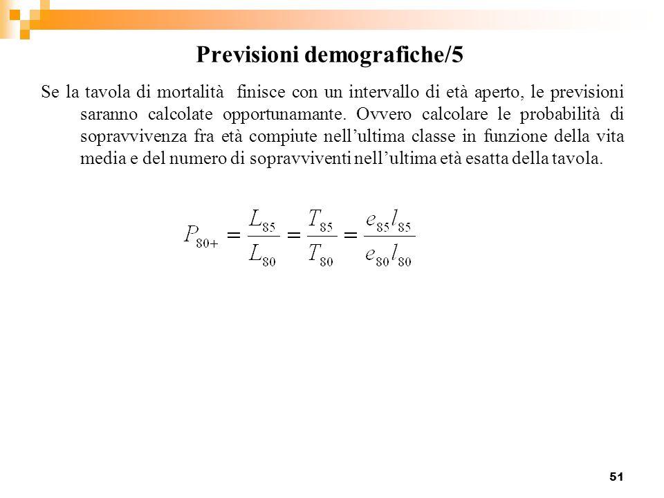Previsioni demografiche/5