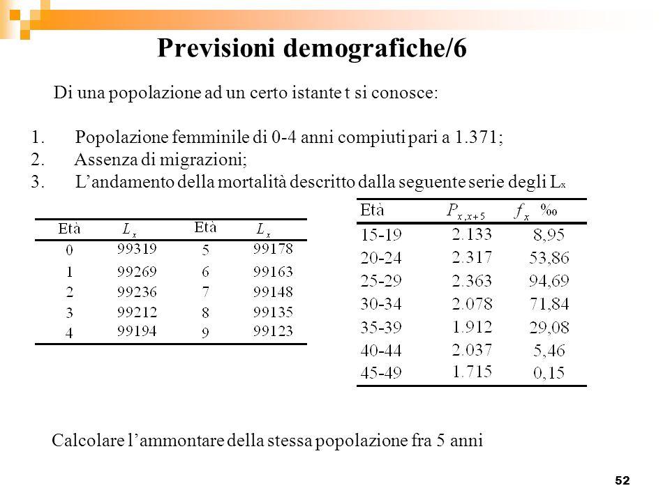Previsioni demografiche/6
