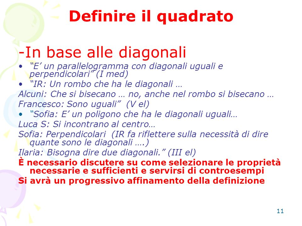 -In base alle diagonali