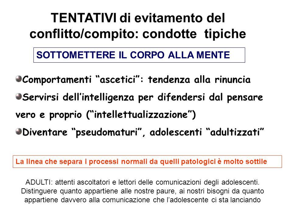 TENTATIVI di evitamento del conflitto/compito: condotte tipiche