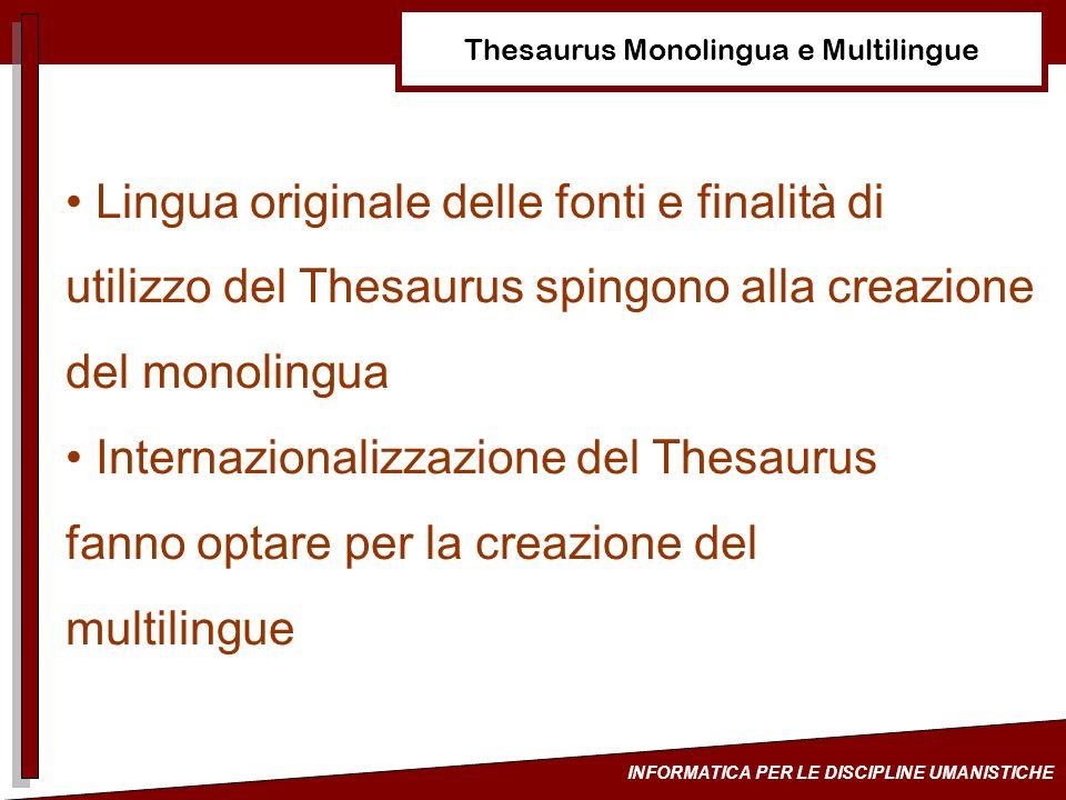 Thesaurus Monolingua e Multilingue