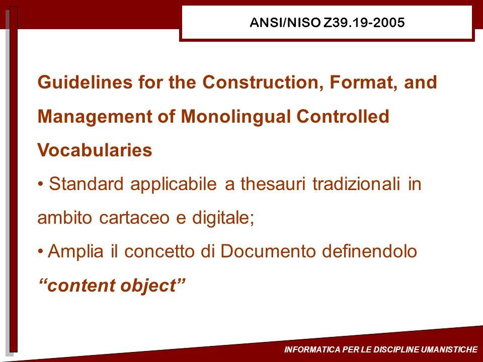 Amplia il concetto di Documento definendolo content object