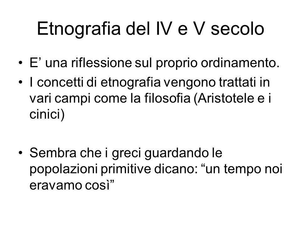 Etnografia del IV e V secolo