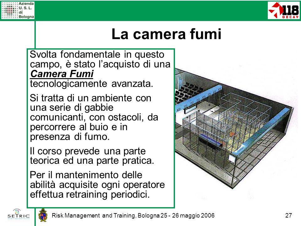 La camera fumi Svolta fondamentale in questo campo, è stato l'acquisto di una Camera Fumi tecnologicamente avanzata.