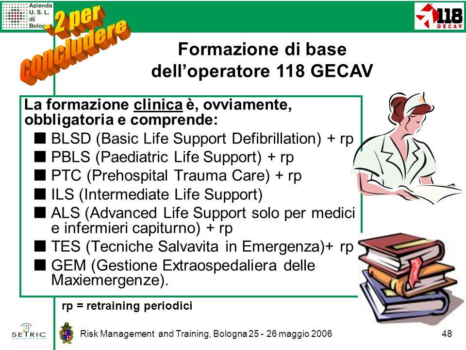 Formazione di base dell'operatore 118 GECAV