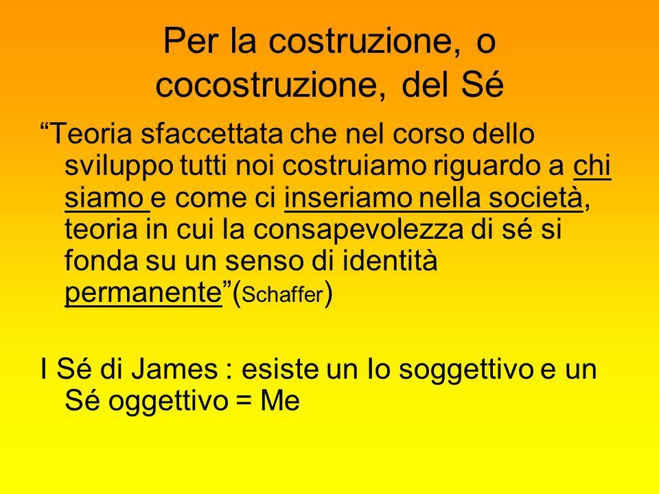 Per la costruzione, o cocostruzione, del Sé