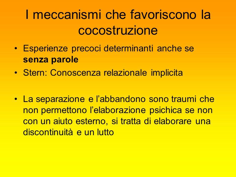 I meccanismi che favoriscono la cocostruzione