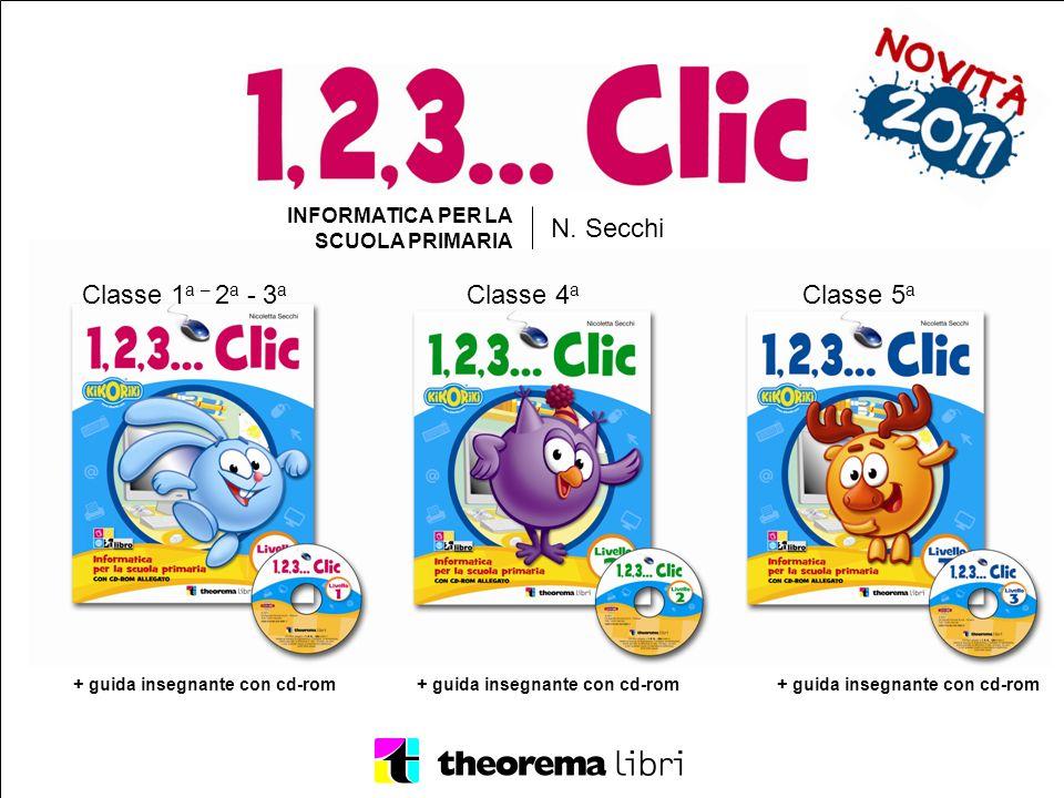 N. Secchi Classe 1a – 2a - 3a Classe 4a Classe 5a INFORMATICA PER LA