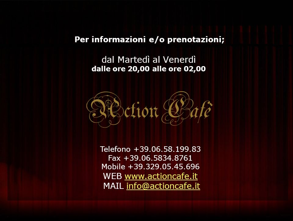 MAIL info@actioncafe.it