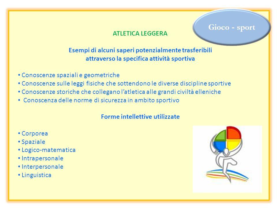 Gioco - sport ATLETICA LEGGERA