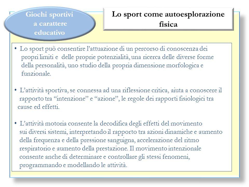 Lo sport come autoesplorazione fisica