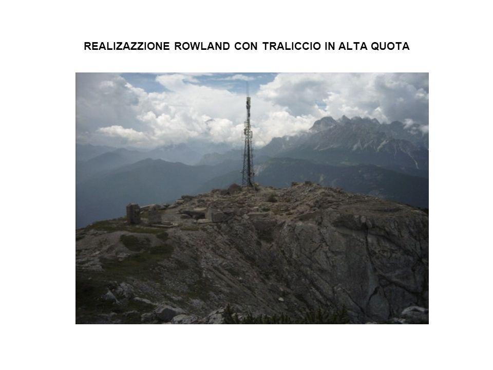 REALIZAZZIONE ROWLAND CON TRALICCIO IN ALTA QUOTA