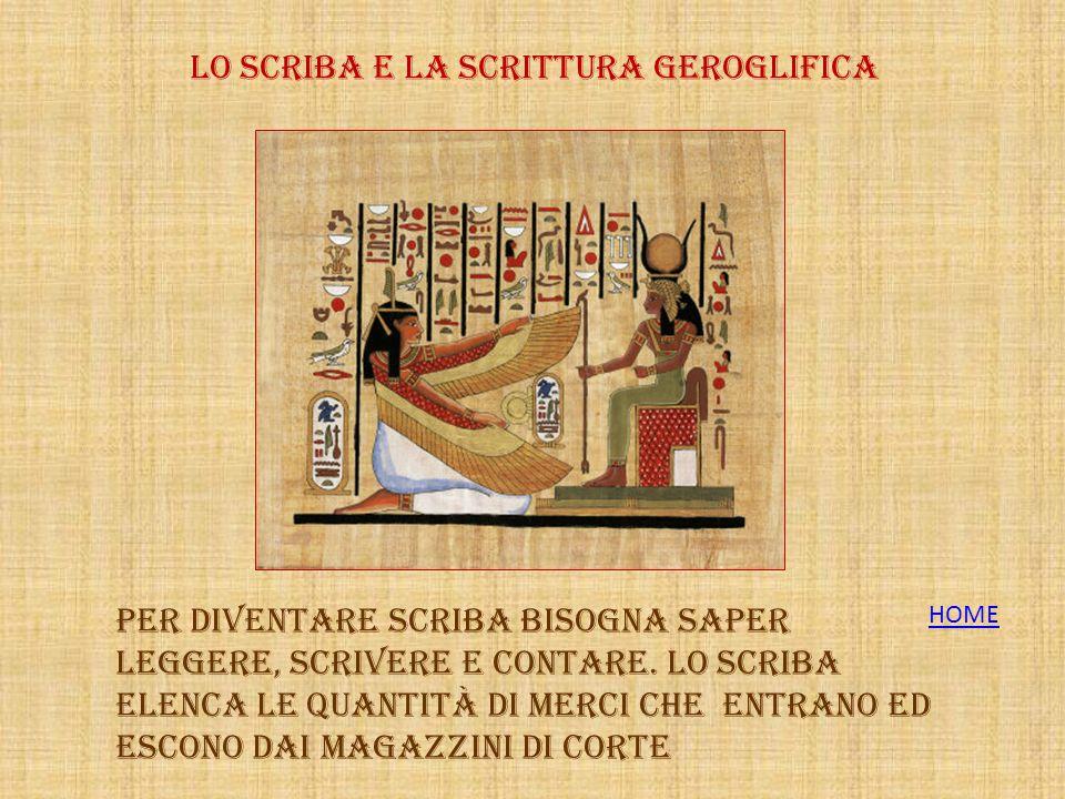 Lo Scriba e La scrittura geroglifica