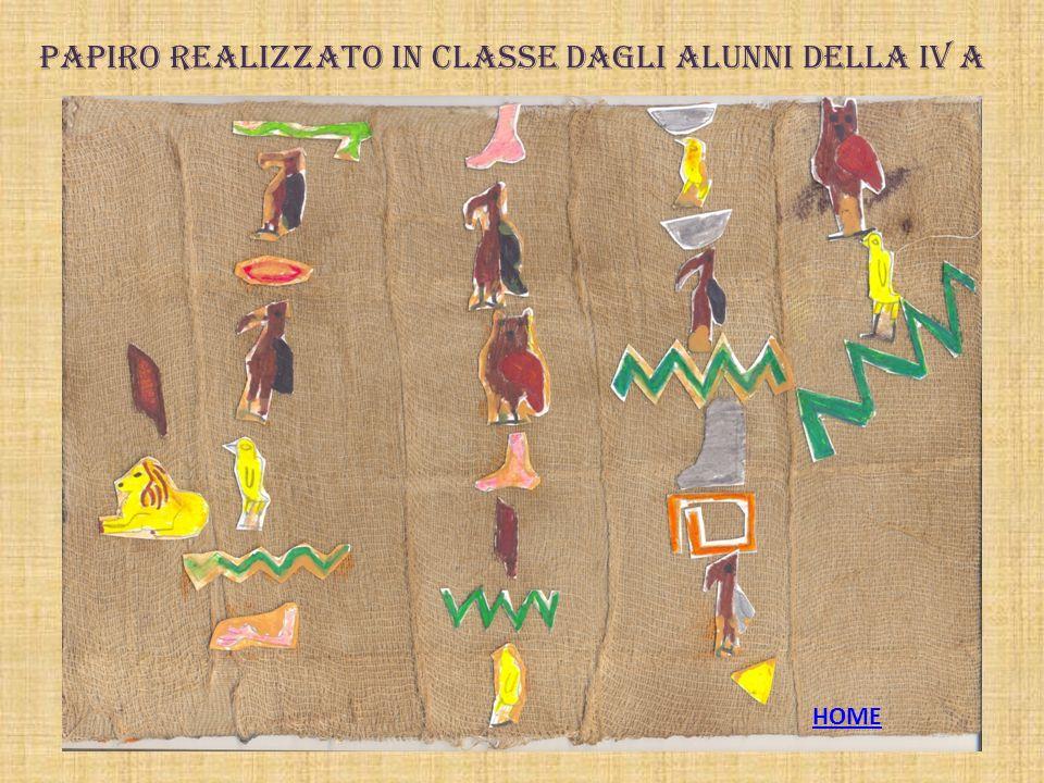 Papiro realizzato in classe dagli alunni della IV A