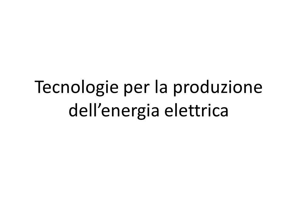 Tecnologie per la produzione dell'energia elettrica