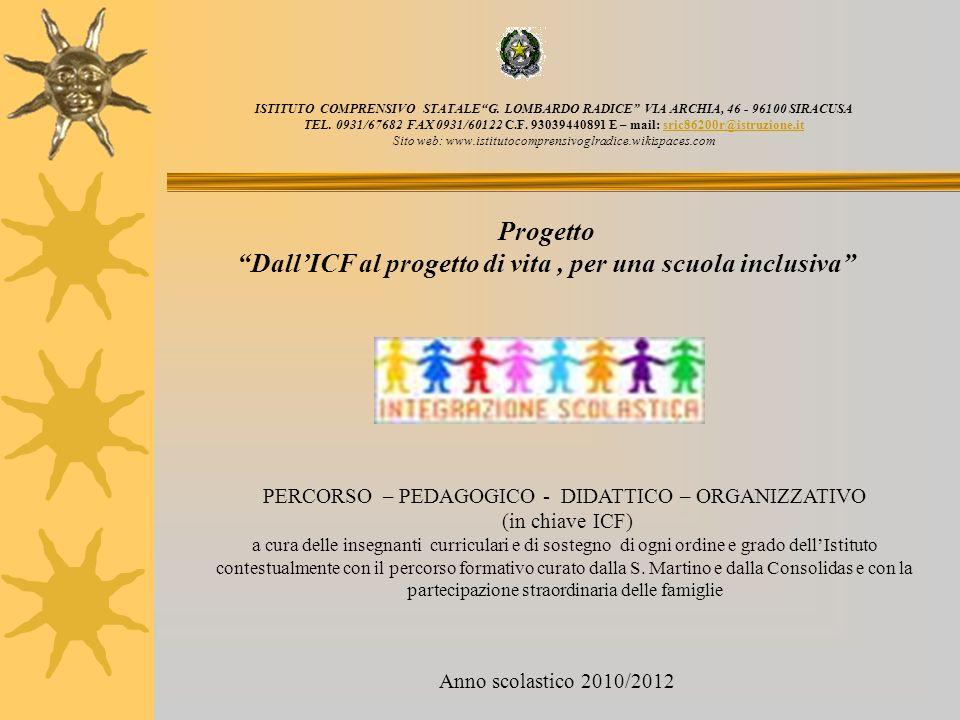 Dall'ICF al progetto di vita , per una scuola inclusiva