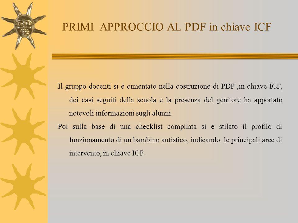 PRIMI APPROCCIO AL PDF in chiave ICF