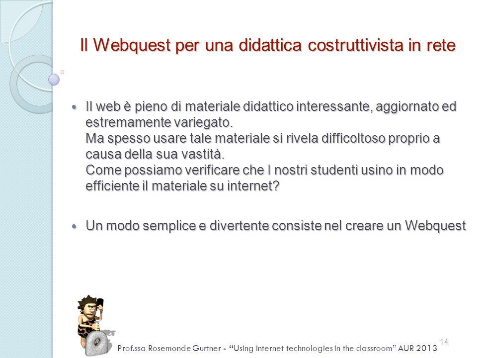 Il Webquest per una didattica costruttivista in rete