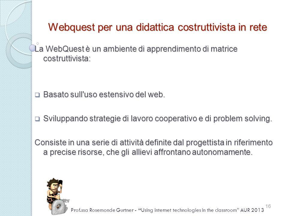 Webquest per una didattica costruttivista in rete