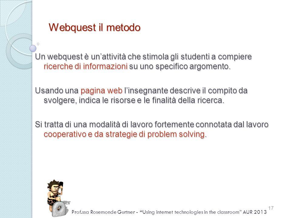Webquest il metodo