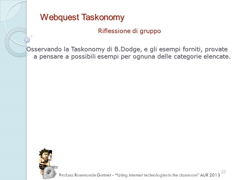 Webquest Taskonomy