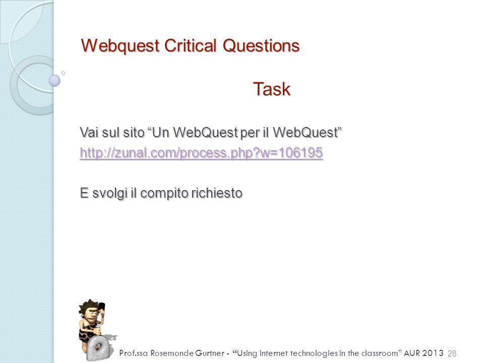 Webquest Critical Questions