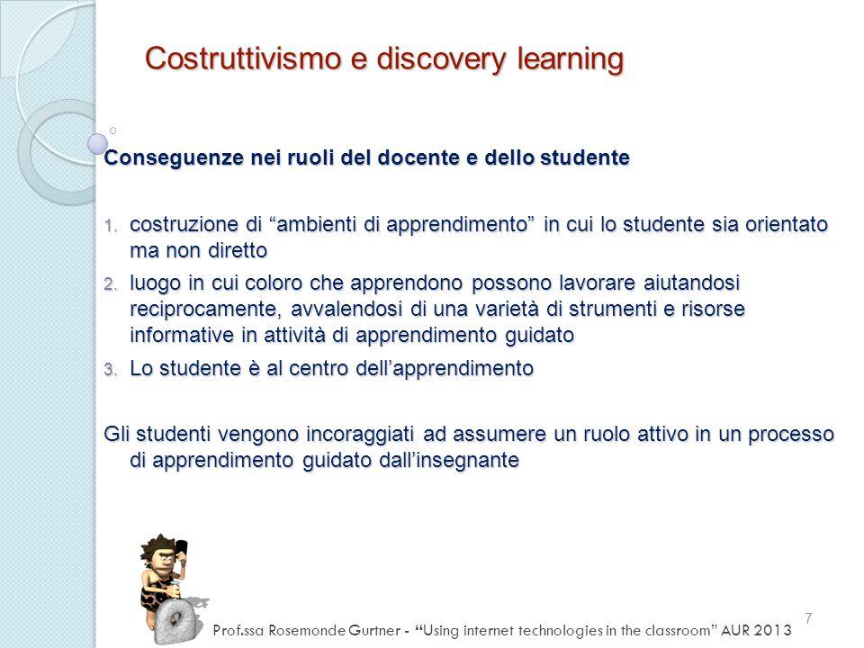 Costruttivismo e discovery learning