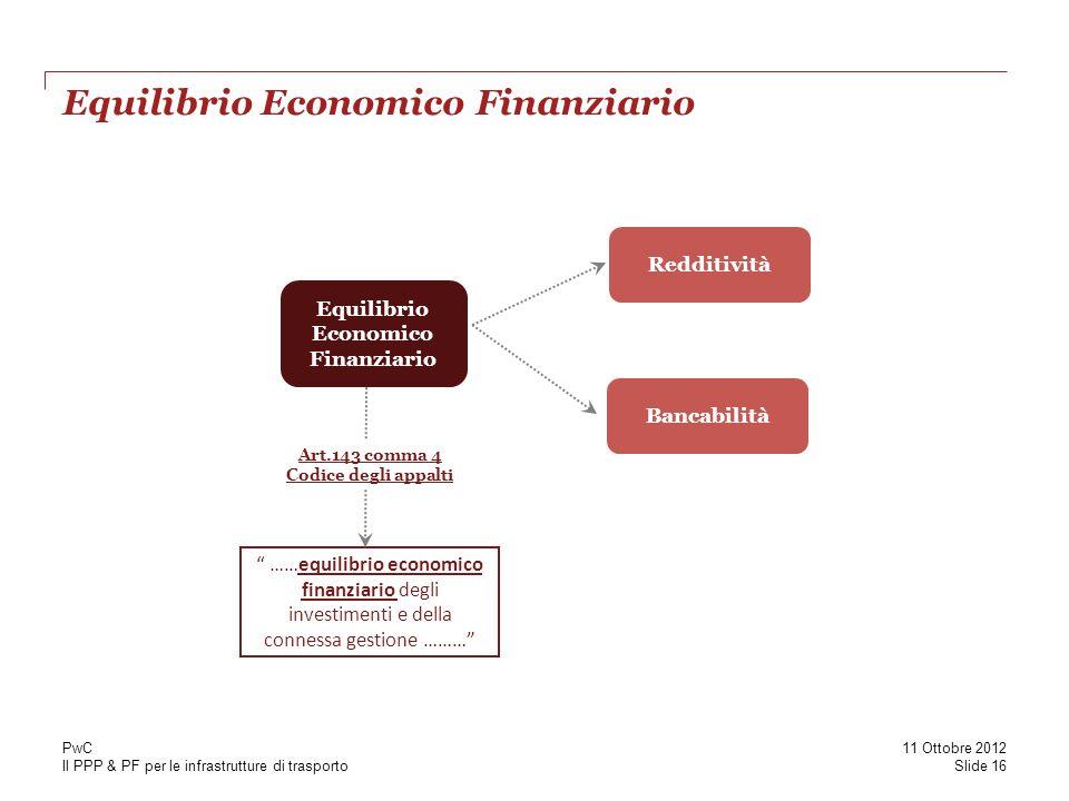 Equilibrio Economico Finanziario