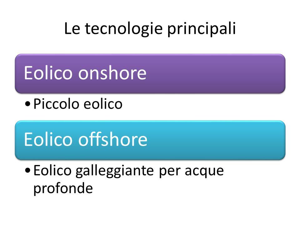 Le tecnologie principali