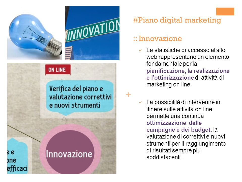 #Piano digital marketing :: Innovazione