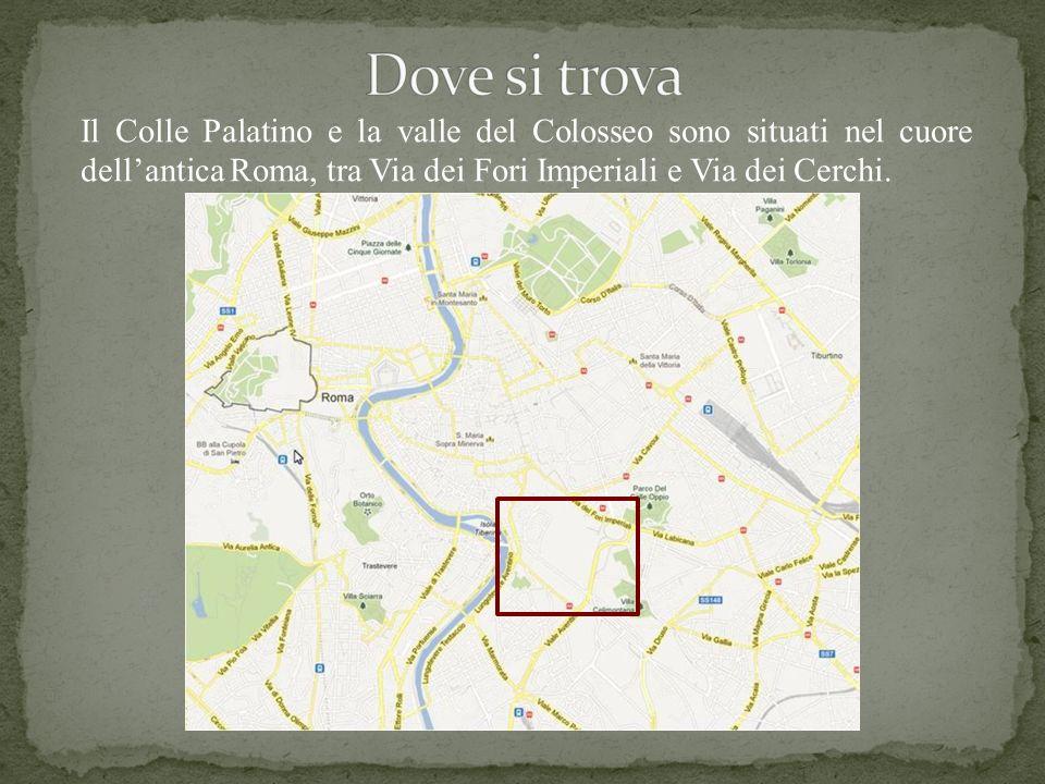 Dove si trova Il Colle Palatino e la valle del Colosseo sono situati nel cuore dell'antica Roma, tra Via dei Fori Imperiali e Via dei Cerchi.