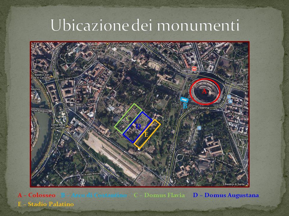 Ubicazione dei monumenti