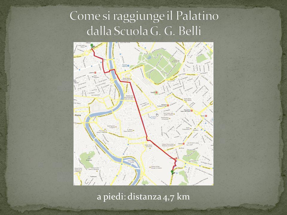 Come si raggiunge il Palatino dalla Scuola G. G. Belli