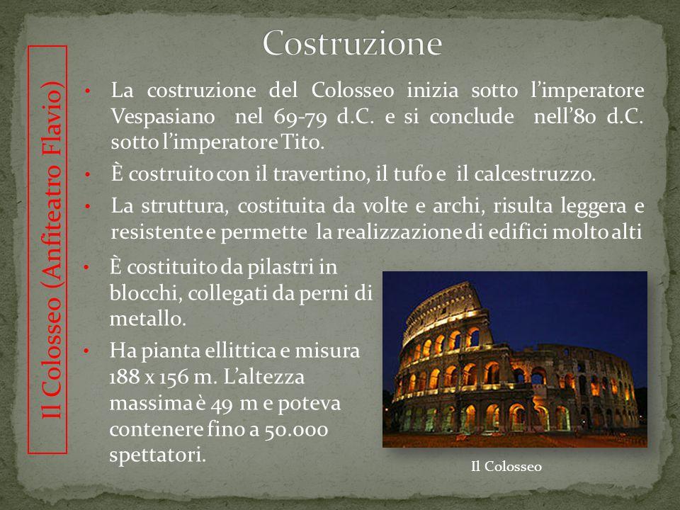 Il Colosseo (Anfiteatro Flavio)