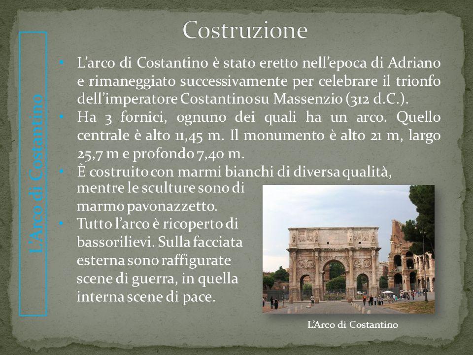 Costruzione L'Arco di Costantino.