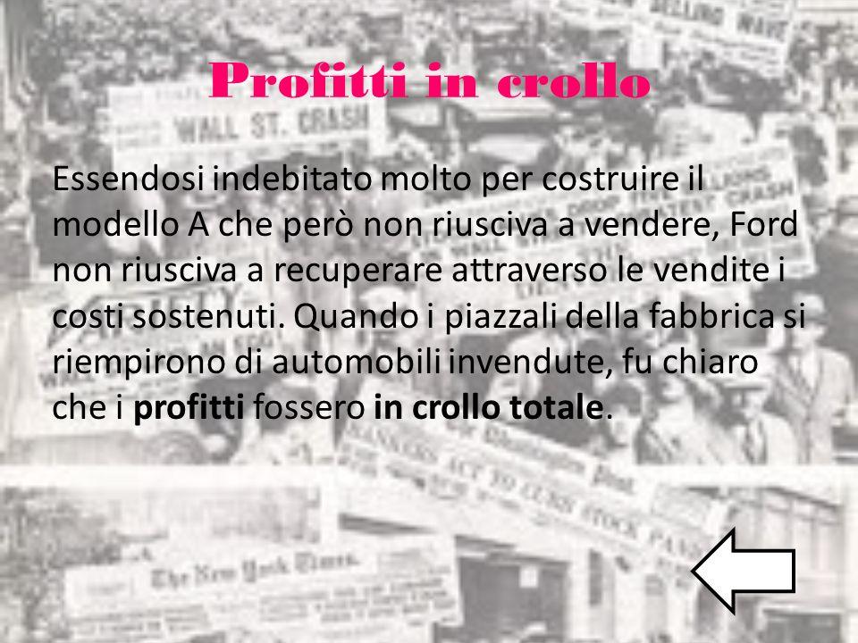 Profitti in crollo