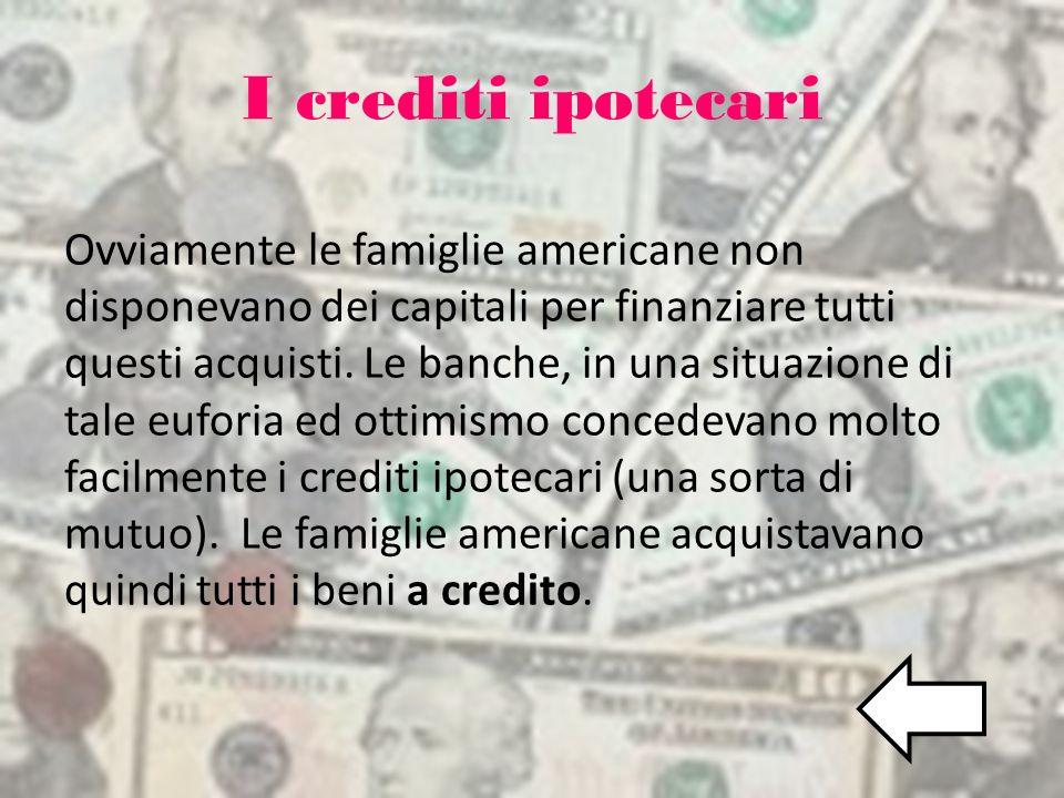 I crediti ipotecari