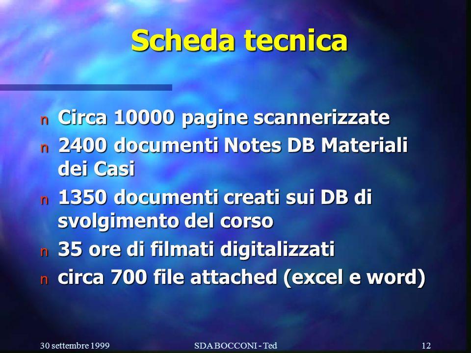 Scheda tecnica Circa 10000 pagine scannerizzate