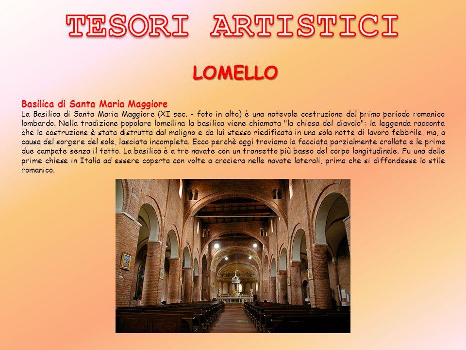 TESORI ARTISTICI LOMELLO Basilica di Santa Maria Maggiore
