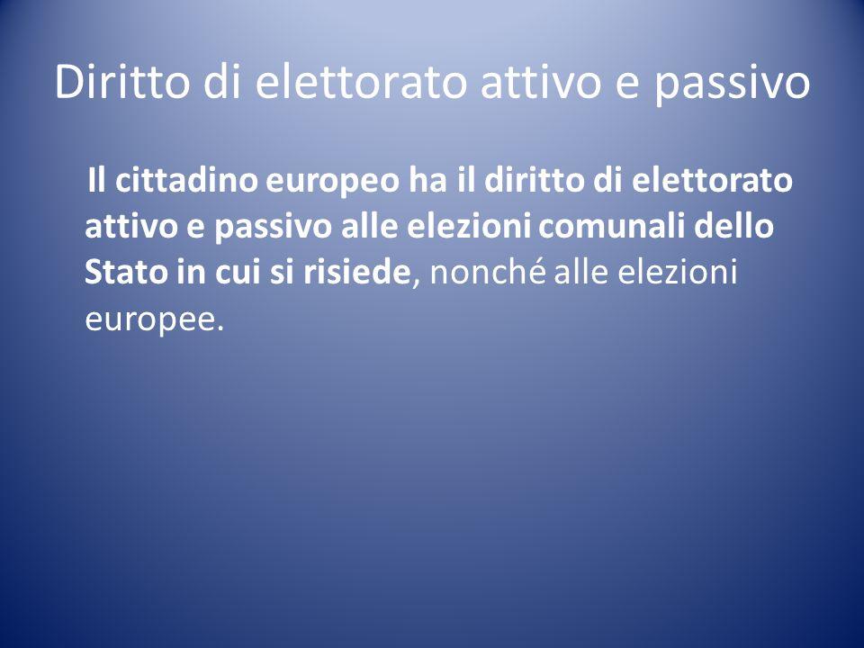 Diritto di elettorato attivo e passivo