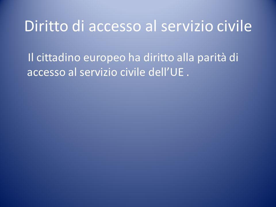 Diritto di accesso al servizio civile