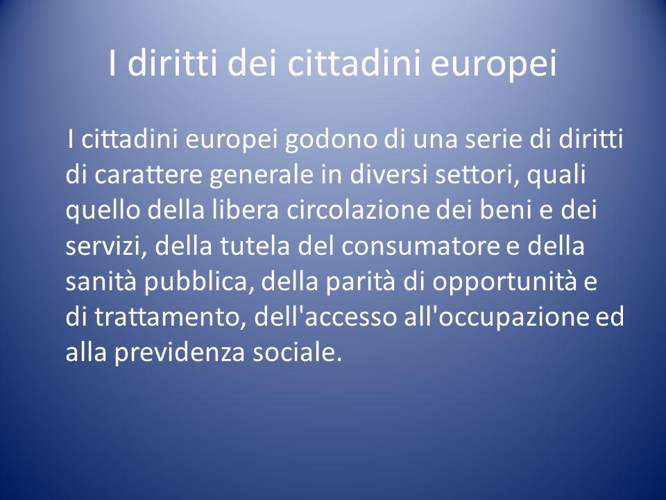 I diritti dei cittadini europei