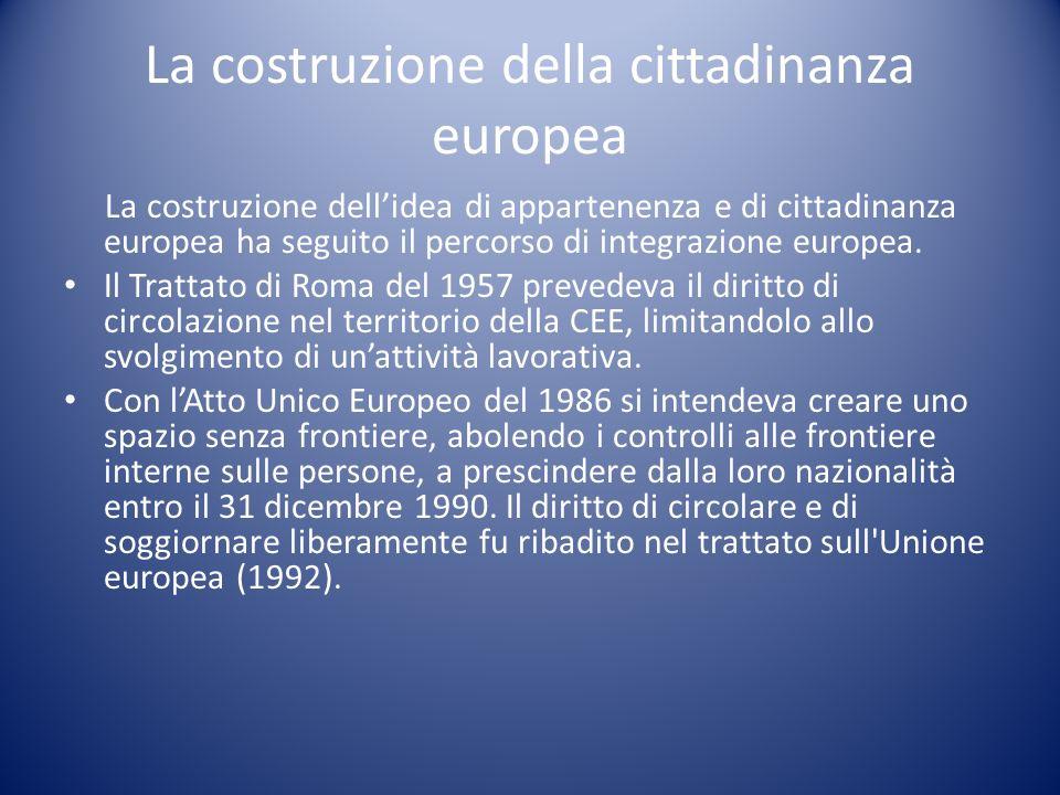 La costruzione della cittadinanza europea