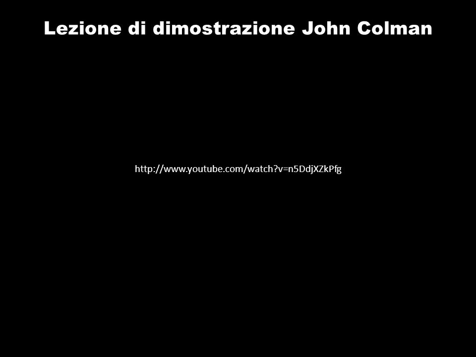 Lezione di dimostrazione John Colman