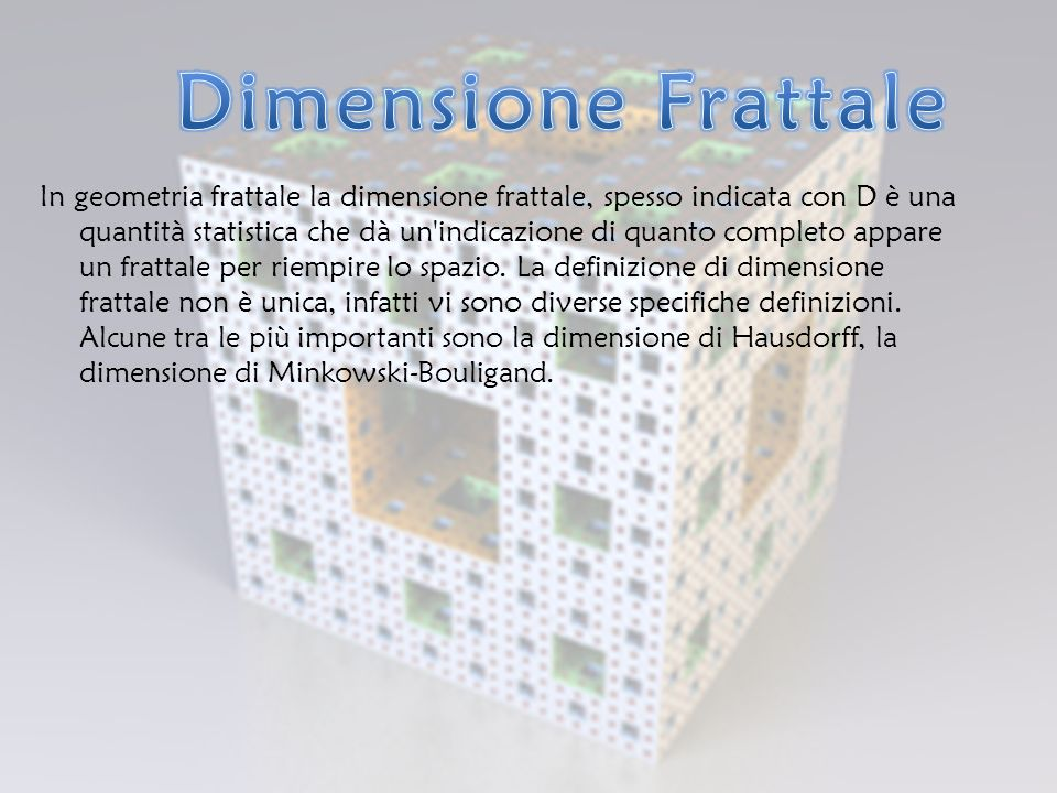 Dimensione Frattale