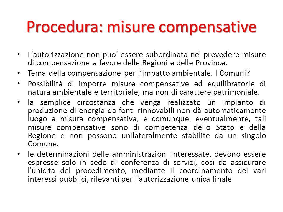 Procedura: misure compensative