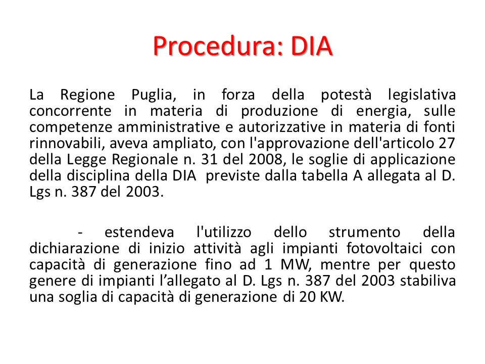 Procedura: DIA