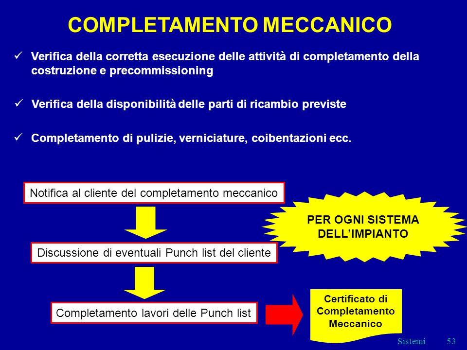 COMPLETAMENTO MECCANICO