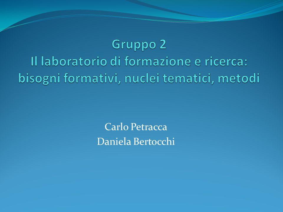 Carlo Petracca Daniela Bertocchi